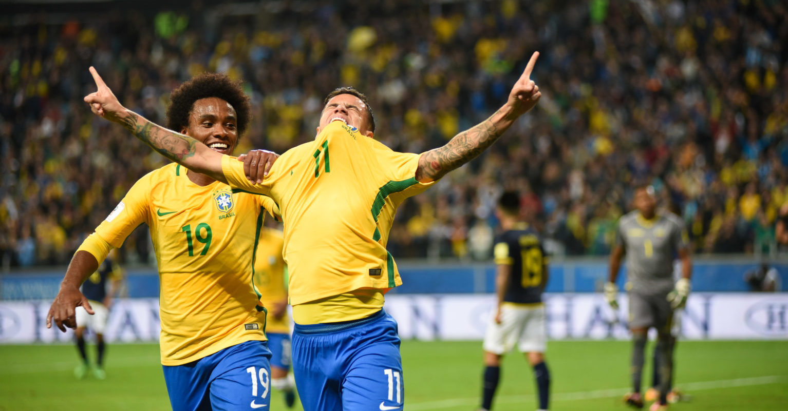 Brazil Willian Coutinho World Cup